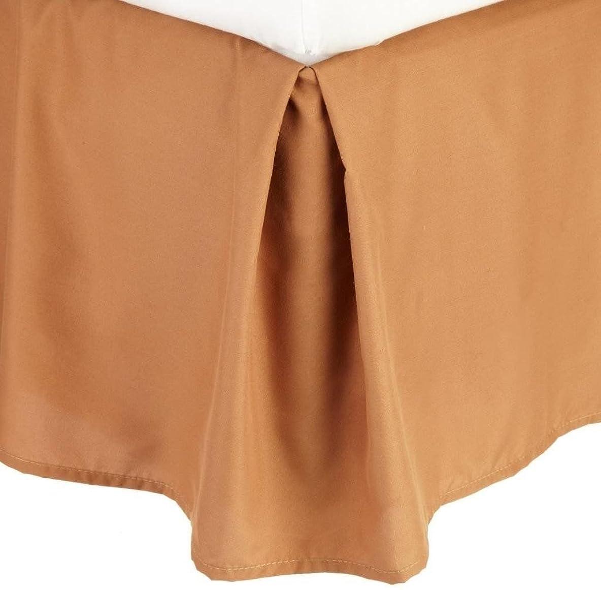 ハンマー絶望的な反対プリーツベッドスカート14?cmドロップエジプトソリッドベッドスカート?–?ブロンズライトブラウン/キング