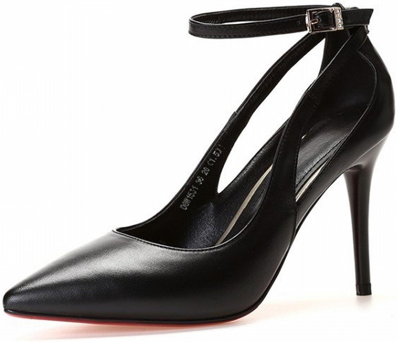DHG High-End-Schuhe mit Hohem Absatz und Knöcheln mit Flachem Mund Einzelne Schuhe Wies Weibliche Schuhe,C und Höhe 7cm,39 B07FPKT8NL  Wert