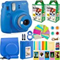 FujiFilm Instax Mini 9 Instant Camera + Fuji Instax Film (40 Sheets) + DNO Accessories Bundle - Carrying Case, Color Filters, Photo Album, Stickers, Selfie Lens + More (Cobalt Blue) from Fujifilm Instax Mini 9 and d.n.o