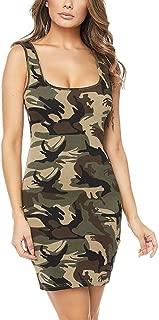 Women Summer Sleeveless Camouflage Evening Party Cocktail Beach Short Mini Dress