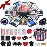 Laxsuch Explosion Surprise Box, Easy Assembly Creative DIY Handmade Explosion Gift Box, Love Memory Photo Box for Women/Boyfriend/Mother's Day/Wedding, Color
