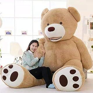 LOVESOUND ぬいぐるみ 特大 テディベア クマ抱き枕 ふわふわぬいぐるみ (200cm, ブラウン)