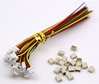 20 Sets Mini Micro Sh 1.0 Jst 3-Pin Connector Plug Male With 100Mm Cable & Female
