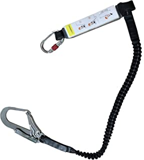 SingLon新規格適合品 フルハーネス用 ランヤード1本 電気工事 一般高所作業用 安全ロープ 使用可能質量110kg以下(1丁掛け)