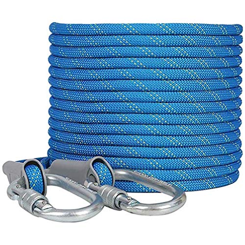 CHQYY Hanfseil- Rope-20m Aerial Work, Brandschutz Seil, Polyester Seil, Durchmesser 11mm, Klettern Klettern im Freien