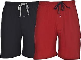 Hanes Men's 2-Pack Knit Sleep Pajama Drawstring Shorts