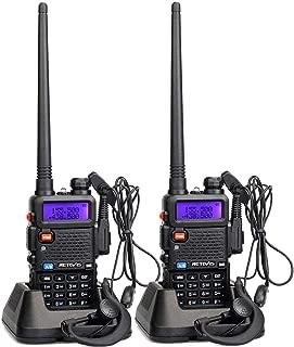 Retevis RT-5R 2 Way Radio 128CH UHF/VHF Dual Band Dual Standby DTMF/CTCSS/DCS FM Ham Radio (2 Pack)