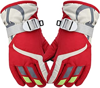 YPAU Winter Ski Gloves Kids Snow Warm Gloves Waterproof Windproof Thick Sports Gloves for Skiing, Snowboarding, Cycling, Riding, Climbing