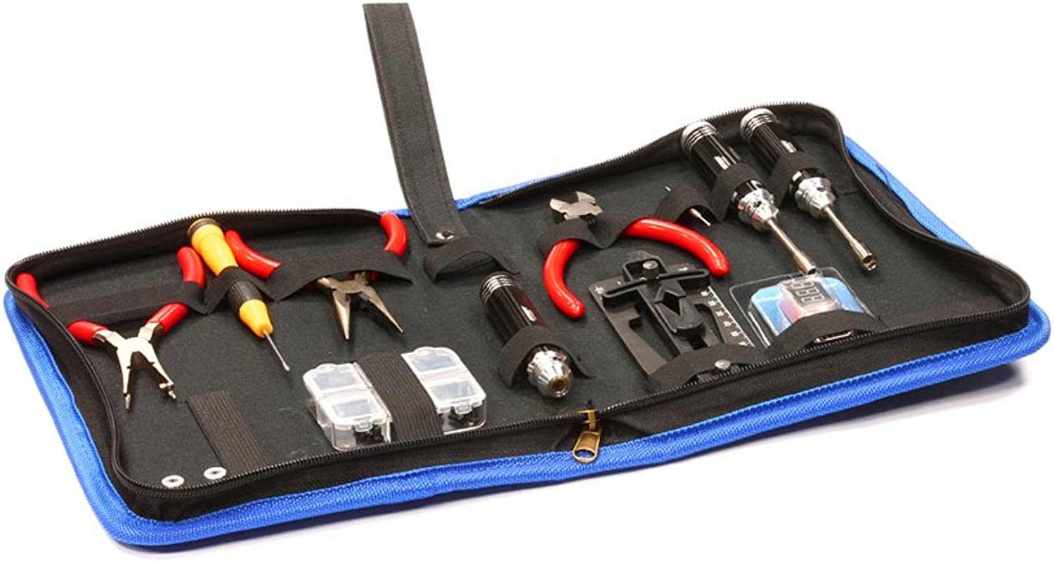 Integy RC Model Hopups C24733BLACK Complete Tool Set w  Carrying Bag for Align TRex 450 & 500 Size Helicopter