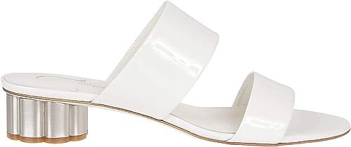 SALVATORE FERRAGAMO Damen 691090 Weißs Leder Sandalen
