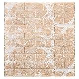 PE mousse 3D brique de pierre, Panneau Mural 3D Pour Deco Murale, Adhesif Papier Peint Décoration Maison Salon Cuisine Panneau DIY Mousse Imperméable Moderne (70cm*77cm*5mm 20pcs,F)