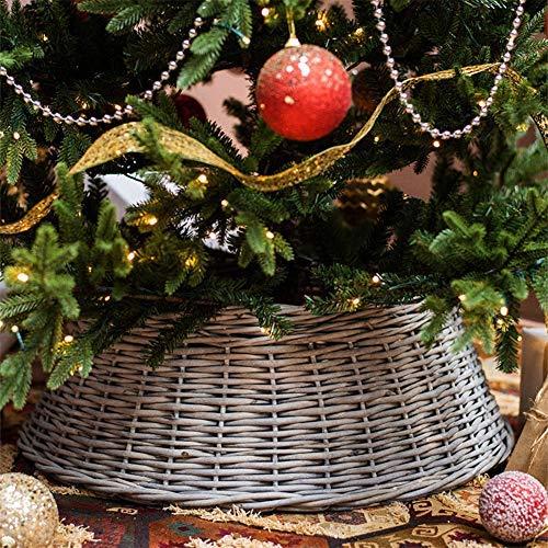 Souarts Weihnachtsbaum-Rock Christbaumdecke Christbaumrock Rund Christbaum Abdeckung Weihnachtsdeko für Weihnachtsfeiertag