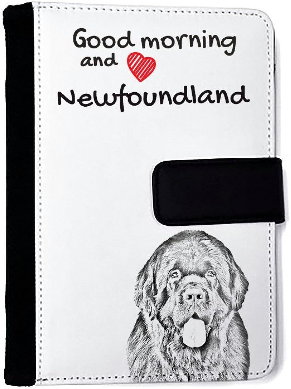 Neufundland, Außergewöhnliches Notizbuch aus Kunstleder mit Hund B01IZW47Q2 | Haltbarkeit