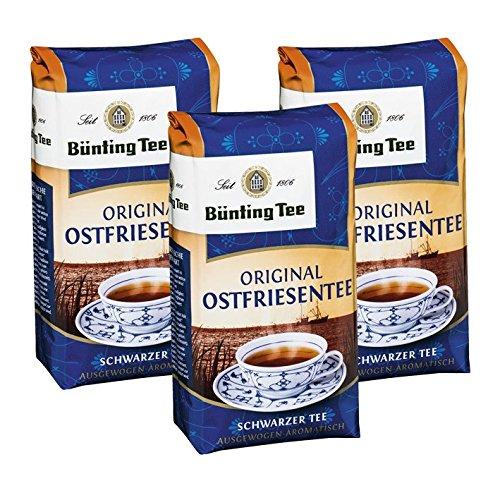 Bünting Tee Original Ostfriesentee, 200g loser Tee 3er Pack