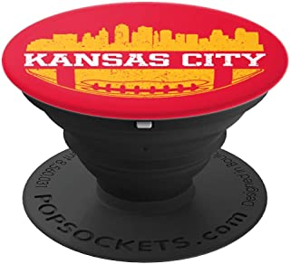 Kansas City Football Vintage KC Skyline Chief Retro Gift PopSockets Grip and Stand for Phones and Tablets