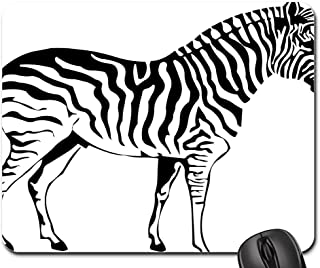 Mouse Pad - Silhouette Drawing Outline Zebra Nature Sketch
