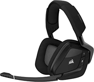 Corsair VOID ELITE RGB Wireless Gaming Headset, 7.1 Surround Sound, Low Latency 2.4 GHz Wireless, 40ft Wireless Range, Cus...