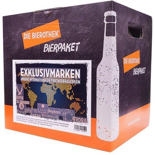 Bierothek® Bierpaket Exklusivmarken (12 Flaschen Bier | außergewöhnliches Geschenk) …