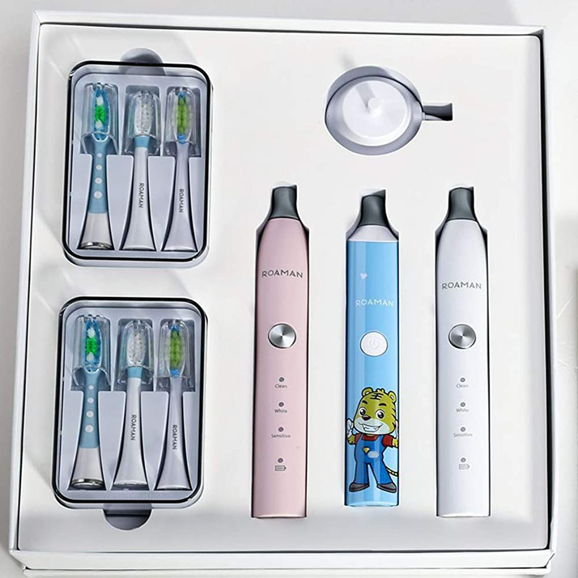 発明する水素いっぱい歯ブラシファミリーセット高級ギフトボックス歯ブラシ大人子供歯ブラシコンビネーションセット歯ブラシ
