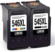 2 LEMERO Remanufacturado Cartuchos de Tinta para Canon PG-545XL CL-546XL para Canon PIXMA MG2450 MG2550 MG2950 MGIP2850 Impresora,Negro Color
