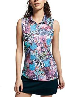 NIKE Dri Fit Sleeveless AOP Summer OLC Golf Polo 2019 Women