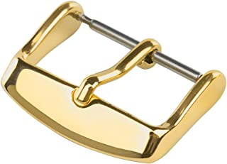 【TON CHARME】 トンチャーメー 腕時計用クラスプ ステンレス 時計 ベルト 尾錠 バックル 交換用 留め金 4色 シルバー/ゴールド/ローズゴールド/ブラック (22mm, ゴールド)
