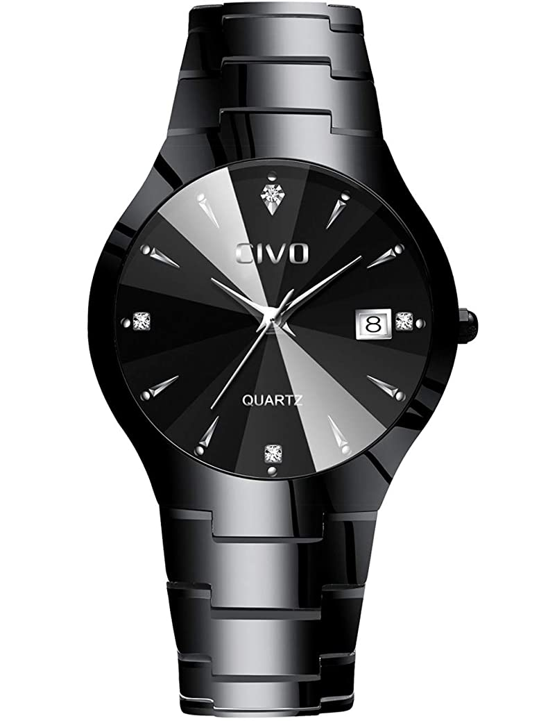 CIVO Mens Watches Luxury Waterproof Date Calendar Wrist Watches Men Leather Stainless Steel Casual Business Dress Watch Fashion Classic Analogue Quartz Watches for Men fkbn4360547056