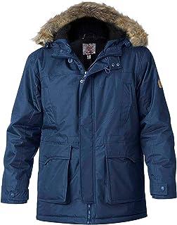 D555 Mens Duke Lovett Big Tall King Size Designer Detachable Faux Fur Parka Coat