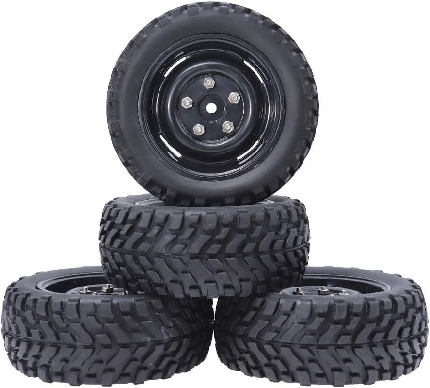 1//10 RC 12mm Hex 4Pcs//set Tires /& Wheel For HSP HPI RC Off Road Racing Car