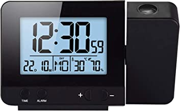 Projectie-wekker USB-opladen Dubbele alarmen Klok met snooze-functie Projectie Verstelbaar Groot LCD-scherm toont temperat...
