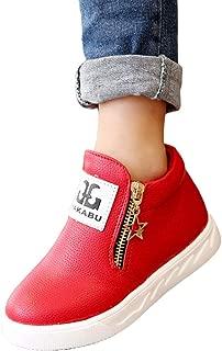 Hopscotch Boys PU Zipper Slip On Sneakers - Red