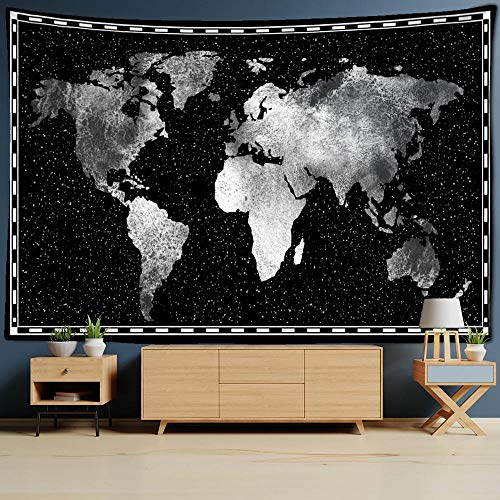 UUJJF World Map Land Plate Wall Hanging Tapestry 3D Print Geometric Decor Oil Painting Beach Towel Sleeping Pad Yoga Blanket Mat 150X200cm