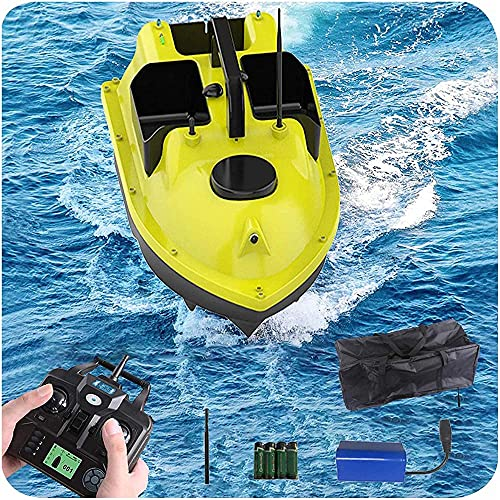hgfch Barco Cebador Pesca Barco Cebador Carpfishing 500M GPS inalámbrico Twin Motor Pesca de Pesca RC Barco con Bolso de Almacenamiento Cargar 4.4 Libras Crucero 5200 MAH Batería