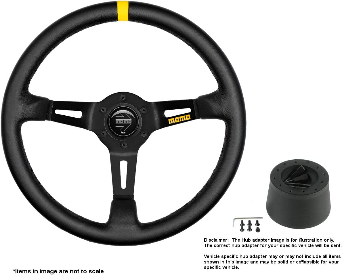 Our shop most popular MOMO MOD.08 350mm 13.78 Inches Steering w Leather Brushe Large special price Wheel