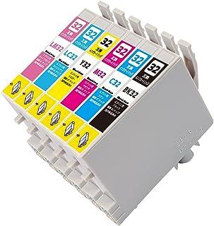 IC32 (BK/C/M/Y/LC/LM)【6色セット】エプソン用 純互換インクカートリッジ 残量表示対応 最新ICチップ 対応機種: L-4170G PM-A850 PM-A850V PM-A870 PM-A890 PM-D750 PM-D7...