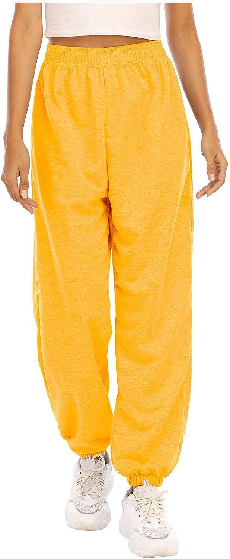 WUAI-Women High Waisted Sweatpants Joggers Pants Tapered Active Yoga Lounge Casual Travel Workout Pants