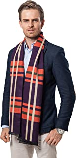 Runtlly Men's Luxurious Classic Cashmere Softness Comfortable Winter Scarf