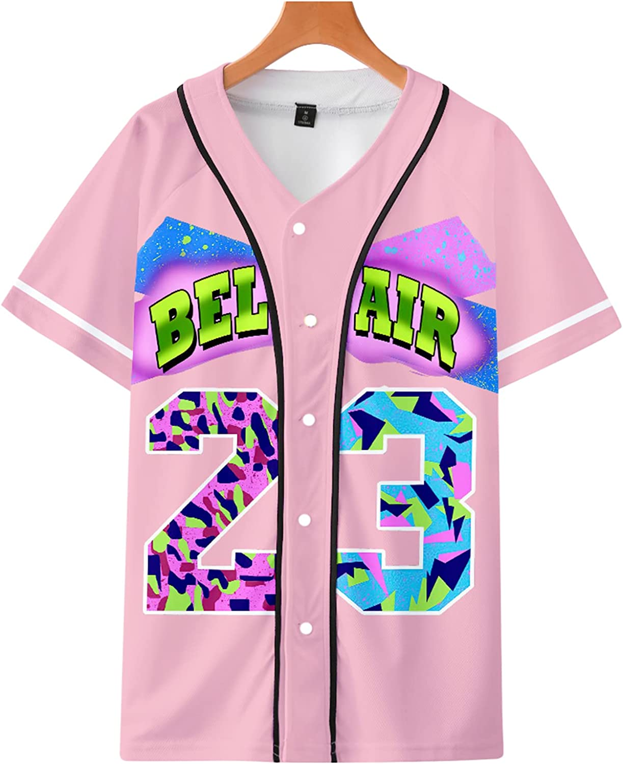 kxybz Unisex Bel Air 23 Baseball Tampa Mall Theme Hi 90s Jersey, Party SEAL limited product