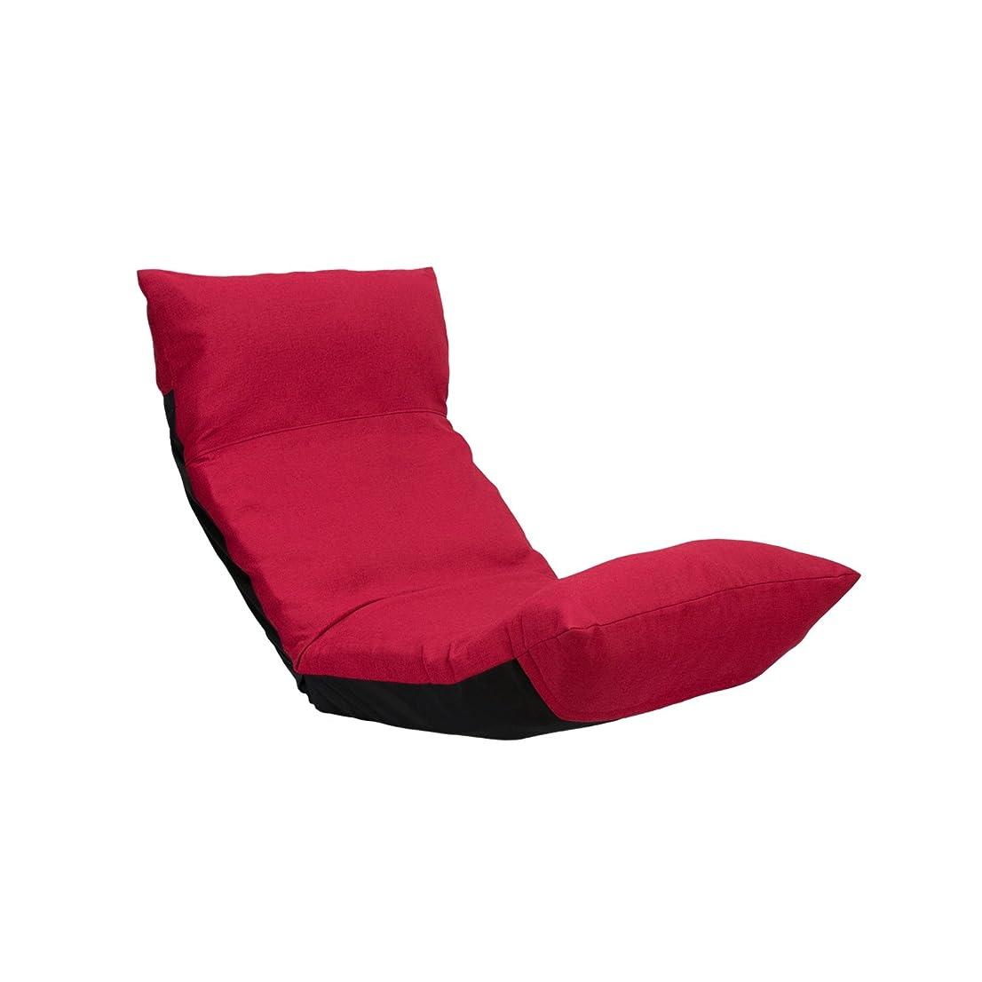 座椅子 ウェーブチェア CBC-313 レッド 日本製 ymz-014