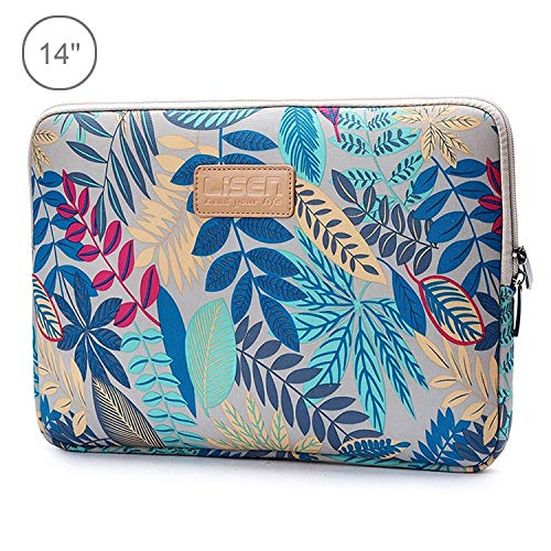 G-rf Tablet PC Tas Aktetassen 14 inch Sleeve Case Ethnic Style Multi-color Zipper Briefcase draagtas, for Macbook, Samsung, Lenovo, Sony, Dell Alienware, Chuwi, ASUS, HP, 14 inch en onder laptops (zwa