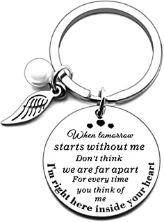 DogPet Memorial Keychain Gifts for Rememberance Women M- When Tomorrow Starts Without Me Pet Loss Sympathy Jewelry Keepsa...