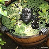 Gargoyle Wasserspeier Wassergeist - braun-Gold mit Pumpe