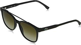 نظارات لا بيكيه الشمسية مستطيلة الشكل للرجال من لاكوست بلون كاكي غير لامع