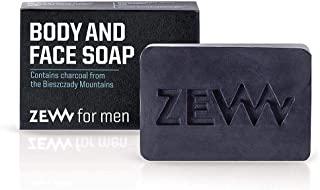 Zew For Men Body and Face Soap Natural Soap with Activated Carbon for Body and Face 85ml