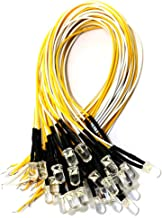 ToToT 30PCS 7.9Inch 3mm 3V Pre Wired LED Diodes Light-Warm White