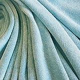 Stoff Meterware Frottee Frotté eisblau hellblau Bambus