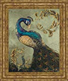 Classy Art Peacock On Sage Il by Tiffany...