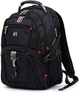 cb1b34ccbaa6 Anbore Travel Gear Scansmart TSA Black Laptop Backpack - Fits Most 17 Inch  Laptops and Tablets