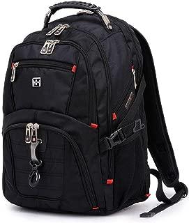 XUJI Travel Gear Scansmart TSA Black Laptop Backpack - Fits Most 17 Inch Laptops and Tablets