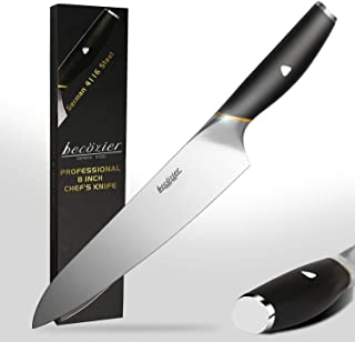 Becozier chef knife,8 inch professional kitchen knife,German High Carbon steel stainless steel with G10 handle sharp Edge,...